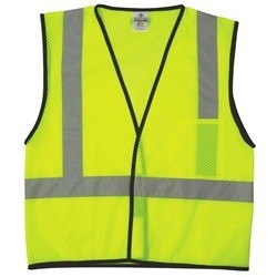 ML Kishigo 1193 Yellow/Lime Class 2 Economy Series 1-Pocket Mesh Safety Vest