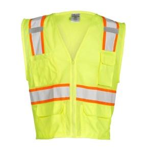 ML Kishigo 1195 Lime Class 2 Ultra Cool Mesh Safety Vest, 6-Pockets