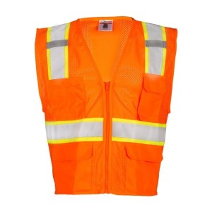 ML Kishigo 1196 Orange Ultra-Cool Mesh Class 2 Safety Vest, 6 Pockets