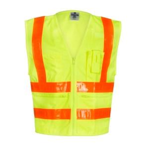 ML Kishigo 1197 Combined Performance 5 Pocket Solid Lime Vest