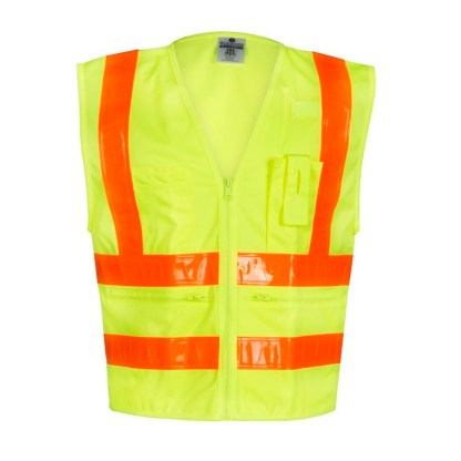 ML Kishigo 1197 Combined Performance 5 Pocket Solid Lime Vest