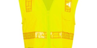 ML Kishigo 1208A ORALITE Solid Front with Mesh Back Lime Vest