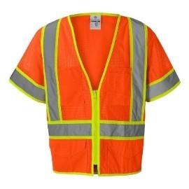 ML Kishigo 1243 Ultra-Cool Orange Class 3 Mesh Surveyors Safety Vest