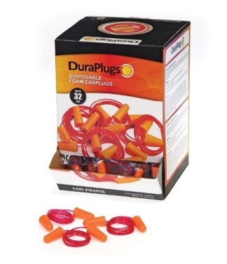 14311 Duraplug® Foam Earplugs Corded, 100ct