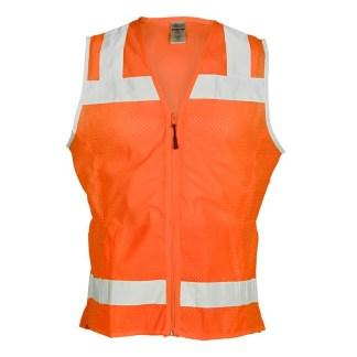 ML Kishigo 1526 Ladies Mesh Orange Vest