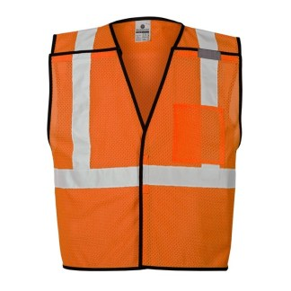 ML Kishigo 1536 Orange Single Pocket Breakaway Economy Vest