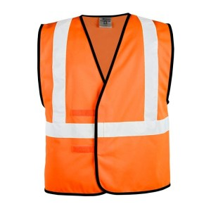 ML Kishigo 1546 Solid Adjustable Orange Vest