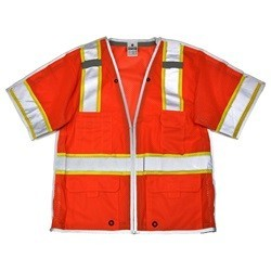 ML Kishigo 1553B Brilliant Series ANSI Class 3 Orange Breakaway Safety Vest
