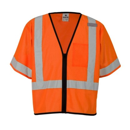 ML Kishigo 1568 Single Pocket Zipper Orange Economy Vest