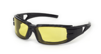 INOX 1772A/AF Trooper Amber Lens (anti-fog) With Black Frame