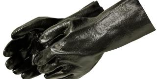 Liberty Gloves 2132 10 inch Gauntlet Semi Rough PVC Coated Gloves, Dozen