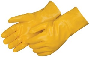 Liberty Gloves 2333 Smooth Finish Yellow PVC  Glove with 12 inch Gauntlet, Dozen