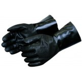 Liberty Gloves I2424 Rough Finish Black PVC Glove with 14 inch Gauntlet, Dozen