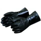 Liberty Gloves I2438 Rough Finish Black PVC Glove with 18 inch Gauntlet, Dozen