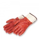 Liberty Gloves 2454 PVC Chips Finish On Red PVC Glove with 12 inch Gauntlet, Dozen