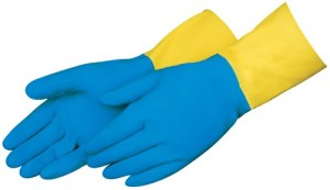 Liberty Gloves 2570SP 13 inch Blue Neoprene Over Yellow Latex Glove, Dozen