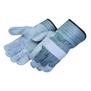 Liberty Gloves 3260Q/G Regular Leather Palm Gloves Green Fabric Back, Dozen
