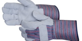 Liberty Gloves 3264Q Regular Leather Palm Glove With 4 1/2 inch Rubberized Cuff, Dozen