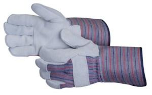 Liberty Gloves 3234 Premium Side Split Leather Palm Glove With 4 1/2 inch Rubberized Cuff, Dozen