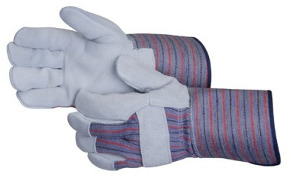 Liberty Gloves 3264SP Standard Leather Palm Glove With 4 1/2 inch Rubberized Cuff, Dozen
