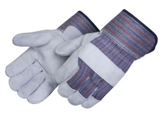 Liberty Gloves 3580Q Select Gray Jointed Double Leather Palm Gloves, Dozen