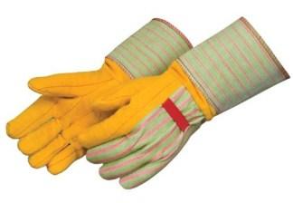 """4214ST Heavy Weight Golden Chore Glove, With 4 1/2"""" Heavy Canvas Turtle Neck Gauntlet Cuff, Dozen"""