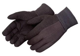 4504Q Brown Jersey Glove With PVC Dots, Dozen