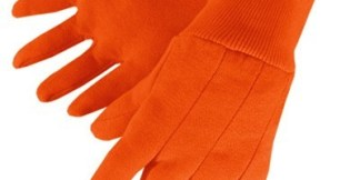 4526 Blaze Orange Hunting Jersey Glove With Knit Wrist, Dozen