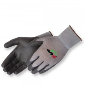 P4639GBK Ultra-Thin Black Polyurethane Coated Palm Glove, Dozen