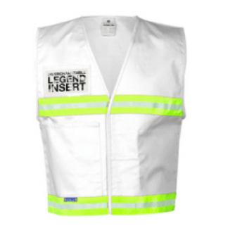 ML Kishigo 4711 White Incident Command Vest