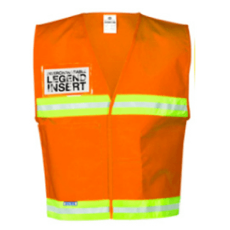 ML Kishigo 4712 Fluorescent Orange Incident Command Vest
