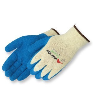 Liberty Gloves 4729 A-Grip Blue Latex Coated Palm Glove, Dozen