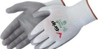Liberty Gloves 4941 V-Grip Gray 13 Gauge Palm Coated Glove, Dozen