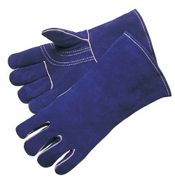 Liberty Gloves 7344 Premium Blue Side Split Leather, Reinforced Thumb and Kevlar Sewn Welders Gloves, Dozen