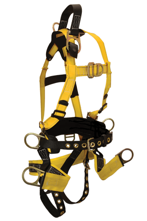 FallTech RoughNeck 8001 7-D Full Body Harness with Integral Soft Sling Seat