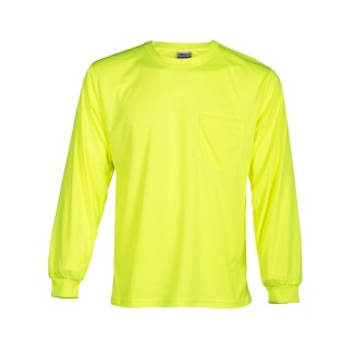 ML Kishigo 9122 Microfiber Long Sleeve Lime T-Shirt
