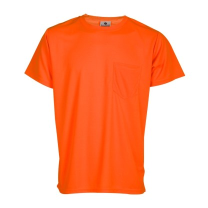ML Kishigo 9125 Microfiber Short Sleeve Orange T-Shirt