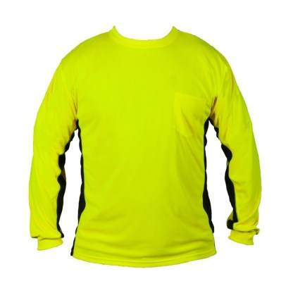 ML Kishigo 9202 Premium Black Series Long Sleeve Hi Viz Lime T-Shirt