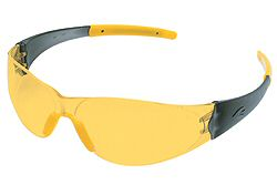 MCR CK224 Amber Lens Safety Glasses