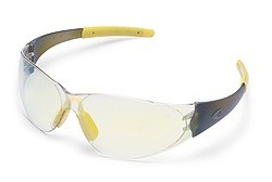 MCR CK2 CK229Y Indoor/Outdoor Clear Yellow Mirror Lens Safety Glasses