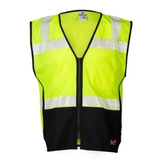 ML Kishigo FM410 FR Premium Black Series Lime Mesh Vest