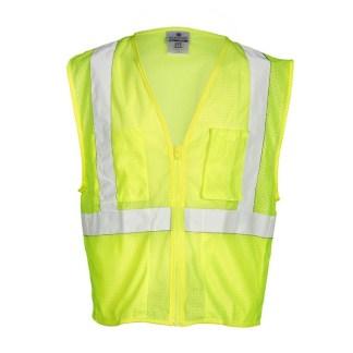 ML Kishigo FM419 Self Extinguishing Mesh Lime Vest