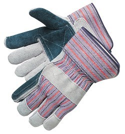 Liberty Gloves 3581Q/PE Select Jointed Double Leather Palm Gloves with Plasticized Cuff, Dozen