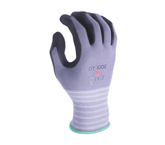 Task OT1002 15 Gauge Nylon Knit Shell Super-Foam Nitrile Coated Palm Glove, Dozen