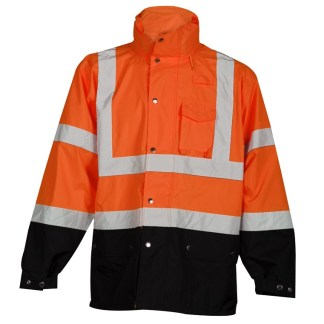 ML Kishigo RWJ103 Orange Storm Cover Rainwear Jacket