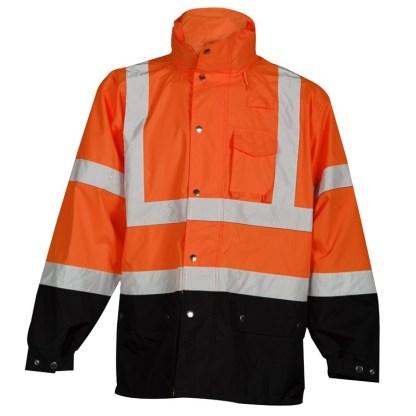 ML Kishigo RWJ103 Orange Storm Cover Rainwear Jacket