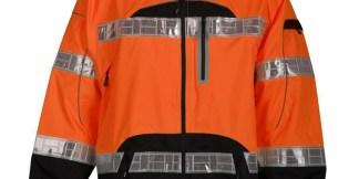 ML Kishigo RWJ107 Premium Black Series Orange Class 3 Rain Jacket