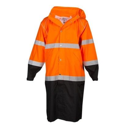 RWJ109 Class 3 Brilliant Series Orange Long Rain Coat