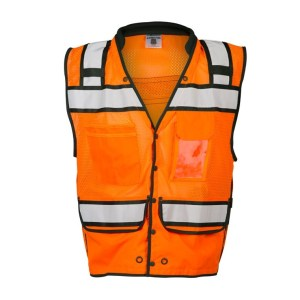 ML Kishigo S5007 High Performance Surveyors Snap Orange Vest