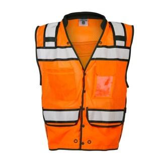 ML Kishigo S5007 High Performance Surveyors Snap Orange Vest